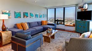 Blue And Orange Decor | 15 stunning living room designs with brown blue and orange accents