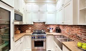 brick backsplash kitchen apartments remarkable exposed brick wall kitchen backsplash brick