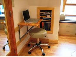 Laptop Desk Ideas Wall Mounted Simple Lacquered Oak Wood Laptop Desk Combined