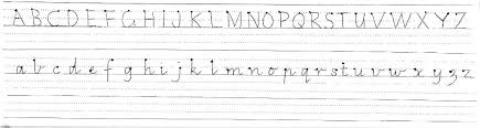 alphabets a to z alphabets in cursive writing free math