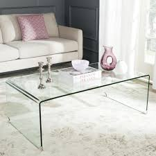 Coffee Tables Glass by Contemporary Rectangle Transparent Chrome Glass Cb2 Coffee Table