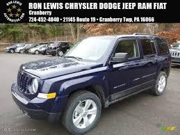 dark gray jeep patriot 2017 true blue pearl jeep patriot latitude 4x4 117291148