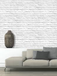 colours white painted brick wallpaper brick wallpaper white