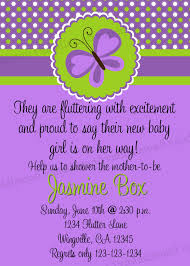 colors butterfly baby shower invitations