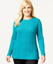 plus size cable knit sweater plus size cable knit sweater only at macy s