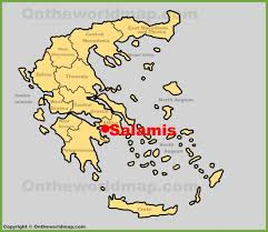 Greece On The Map by Salamis Location On The Greece Map
