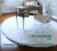 flooring u0026 rugs classic round white faux fur rug design with