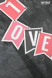 Valentine S Day Flags Printable Valentine U0027s Day Banner Thirty Handmade Days