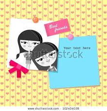 greeting card design best friends photo stock vector 102404038