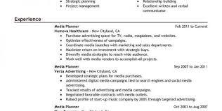 Buyer Resume Sample by Media Planner Resume Sample Media Planning Resume Sample Resume