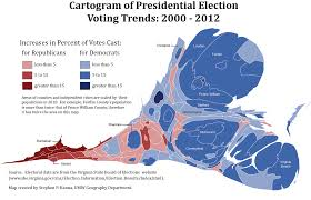 2012 Presidential Election Map by Electoral Geography 2016 David Miller