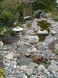 Rock Garden Features Using The Rocks From The Front Yard For A Feature In The Back