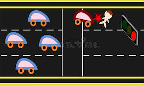 beating the red light beating the red traffic light stock illustration illustration of