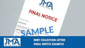 debt collection letter u0026 letter of demand example template