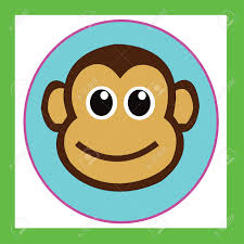 monkey cute cartoon characters cute graphics for kids stock photo