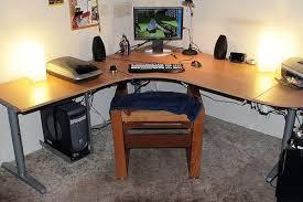 wrap around computer desk modified ikea galant desk ikea galant desk desks and desk plans