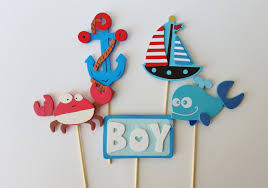 sailor baby shower decorations nautical cake toppers ahoy it s a boy decor baby