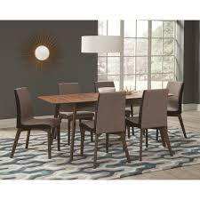 dining room tables with extension leaves coaster redbridge dining table with extension leaf coaster fine