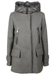 moncler moncler euphemia padded coat grey women s coats italist