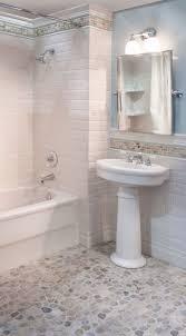 pebble tile floor bathroom room design ideas