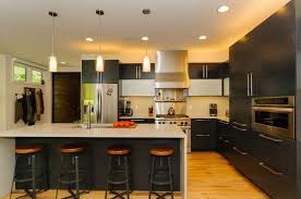Tech Lighting Echo Pendant Modern Kitchen With High Ceiling By Modern Asheville Real Estate