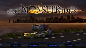 free download monster truck racing games crazy monster truck smasher android apps on google play