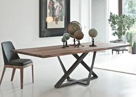 dining room wood rectangle modern dining tables with metal legs