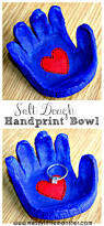 salt dough handprint bowl messy little monster