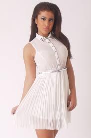 white studded collar dress size 10