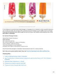 hyderabad hotel packages grab the special summer package at katriya