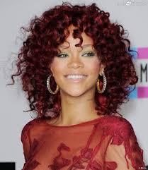 cheveux rouge acajou rihanna le rouge version bouclé c u0027est en novembre 2010