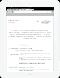 Resume Templates Mobile by Sume Resume Templates For A Mobile Generation