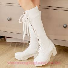 womens knee high boots nz nz 174 womens boots lace up front square heel toe knee