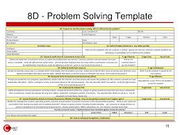 Problem Solving Template Excel 8 D Problem Solving Process