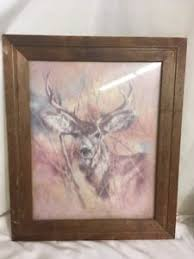 home interior deer pictures 1970s vintage k maroon silent buck deer home interior woodsmen