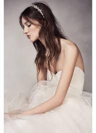 white flower headband flower headband david s bridal