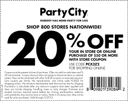 pinned may 26th 20 off 50 at party city or online via promo