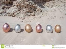 metallic easter eggs metallic easter eggs in the sand stock photo image 29450940