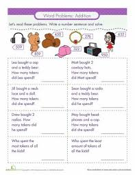 addition addition word problems worksheets free math