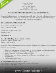 award winning resume examples how to write a perfect teaching resume examples included teaching resume herman carson