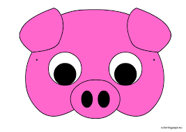 pig mask coloring kids drawing coloring pages marisa