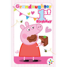 peppa pig birthday 1st birthday granddaughter peppa pig birthday card 217483