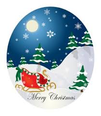 free merry clipart image winter card