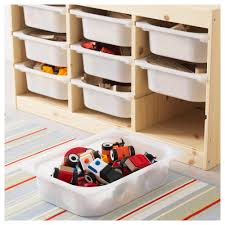 Ikea Kids Storage Boxes Trofast Storage Combination With Boxes Light White Stained Pine