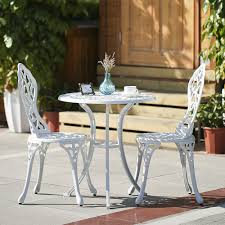 White Modern Outdoor Furniture by White Ikayaa 3pcs Modern Outdoor Patio Bistro Set Aluminum Porch