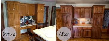 Refinish Oak Kitchen Cabinets by Glass Countertops Refinishing Oak Kitchen Cabinets Lighting