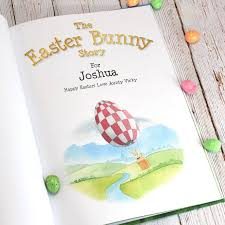 easter bunny book personalised easter bunny gift book by letteroom