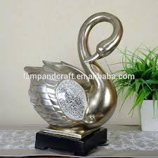 best selling swan model coconut shell home decor with bronze buy