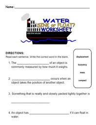 buoyancy activity and worksheets for kids by lil u0027 purty bird prints