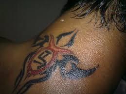 tribal on back neck